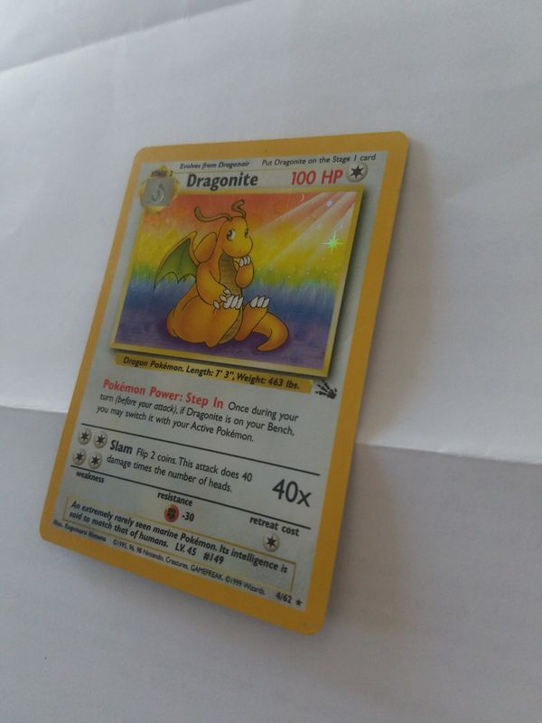 Dragonite Pokemon Rare Holo 4/62