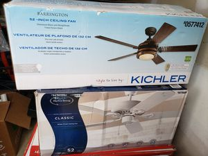 Brand new 52 inch ceiling fans for Sale in Clayton, NC