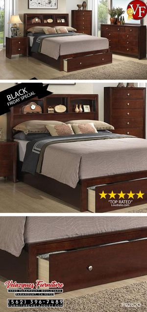 **SAVER** Queen Bed Head Board Cubby + Under Drawer (Black Friday Special) $268 for Sale in Pico Rivera, CA