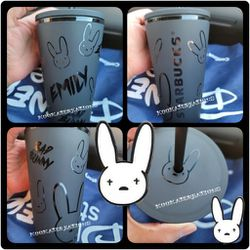 Matte Bad Bunny Starbucks 16oz Cup for Sale in Los Angeles,  CA