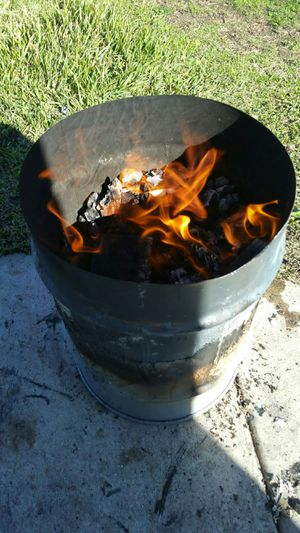 fire pit metal can size of 7 gallons $15each for Sale in Rancho Cucamonga, CA