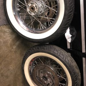 "2 16"" Front Rims For Touring With White Wall 150 Each for Sale in San Jose, CA"