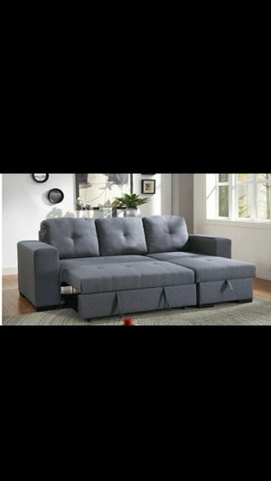 SECTIONAL SOFA COUCH W STORAGE IN THE CHAISE NEW IN BOX SOFA CAMA NUEVO for Sale in INDIAN LK EST, FL