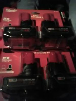 4 Milwaukee batteries M12 3.0 for Sale in Dallas, TX