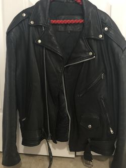 Biker Black Leather Jacket XL for Sale in Cape Coral,  FL