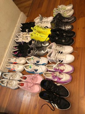 60 plus pair of shoes mostly adult for Sale in West Park, FL