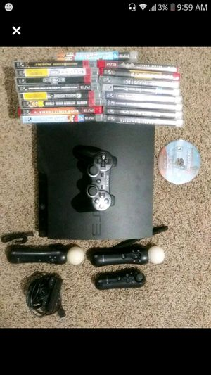 Ps3, 18 games, move camera and controllers for Sale in Bellmawr, NJ