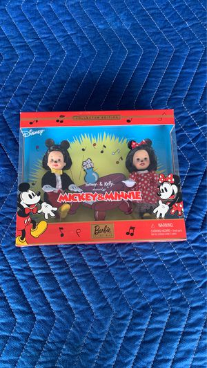 New 2002 Disney Collector Edition Barbie Tommy & Kelly As Mickey & Minnie for Sale in Garden Grove, CA