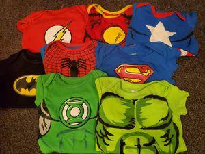 8pk of Superhero onesies 0-3m for Sale in Tamarac, FL
