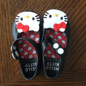 New Black Hello Kitty Jelly Shoes Size 4 for Sale in Memphis, TN
