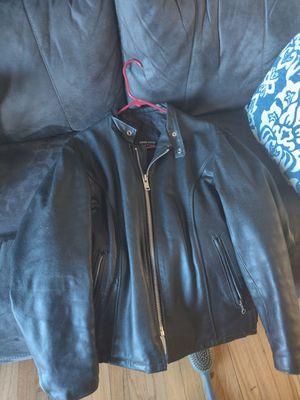 Black leather jacket motorcycle for Sale in Sumner, WA