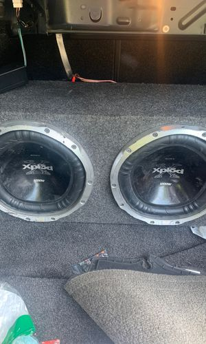 2 Subs with Amplifier and Box for Sale in Providence, RI