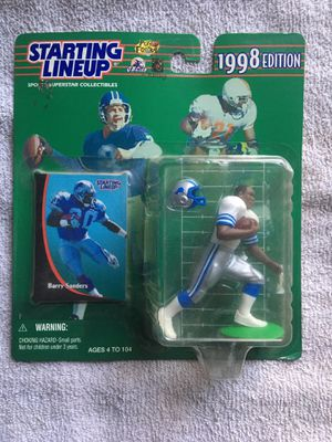 Barry Sanders Starting Lineup Figure for Sale in Livonia, MI