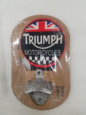 Triumph motorcycle bike logo steel metal sign bottle opener for Sale in Vancouver, WA