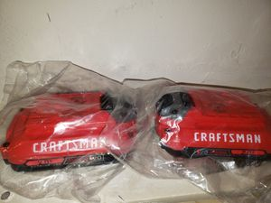 2 New Craftsman Power tool batteries for Sale in Chelmsford, MA