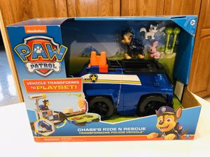 New Paw Patrol Chase's Ride N Rescue Transformers for Sale in Downers Grove, IL