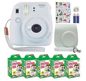 Fujifilm Instax Mini 9 Instant Film Fuji White-purple-ice blue-pink + 50 Film Sheets with PAYPAL PAYMENTS ONLY for Sale in Fenton, MO