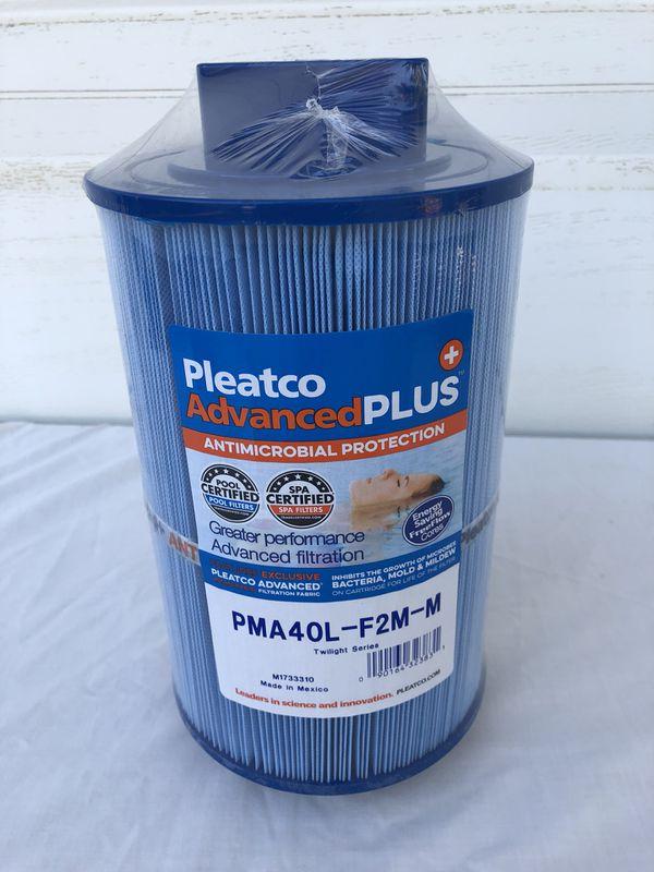 Pleatco PMA40L-F2M-M Antimicrobial spa hot tub jacuzzi filter, new!