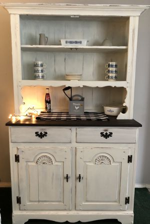 !!BEAUTIFUL!! Vintage shabby chic white buffet cabinet for Sale in West Covina, CA