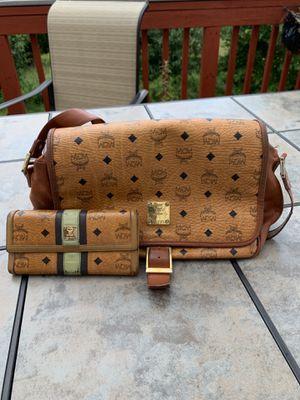 MCM messenger monogram crossbody bag w/ MCM wallet for Sale in Gaithersburg, MD