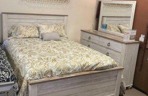 Light Beige Wood Bedroom Set With Metal Circle Handles for Sale in Harrisburg, PA