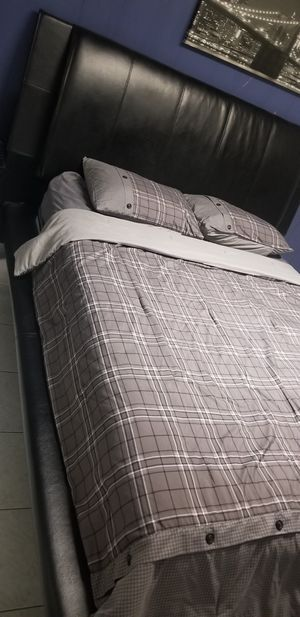 Queen Size Black Frame plus Mattress and Box Springs for Sale in Tampa, FL