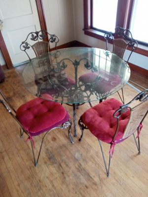 Glass kitchen table for Sale in Oklahoma City, OK