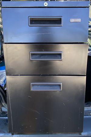Mobile File cabinet (3 drawers) metallic in Black for Sale in San Rafael, CA
