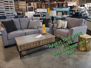 Sofa, Love Seat, and Chair for Sale in La Vergne, TN