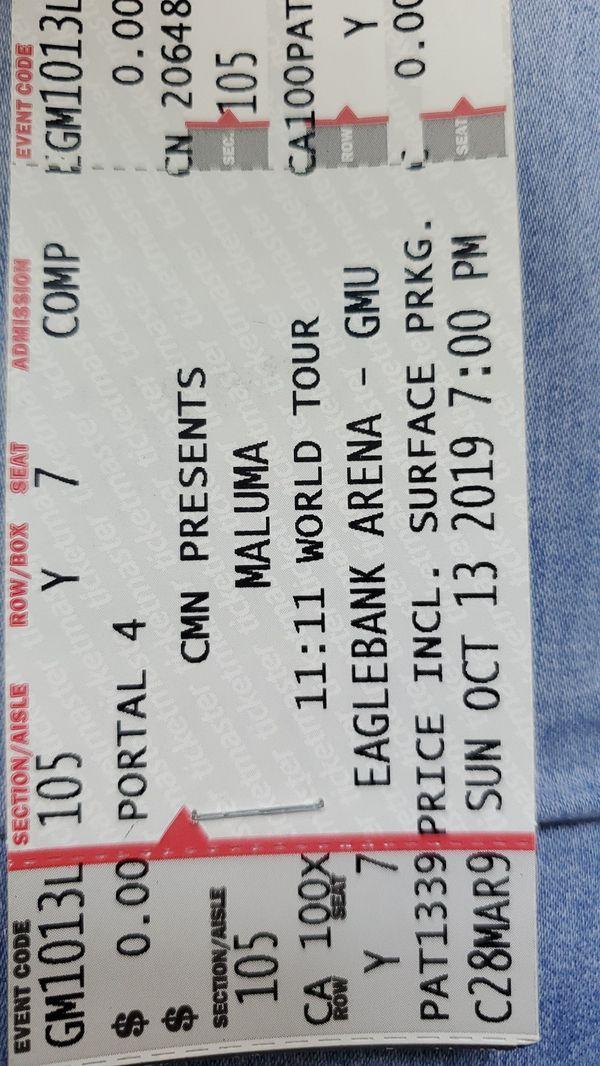 maluma tickets