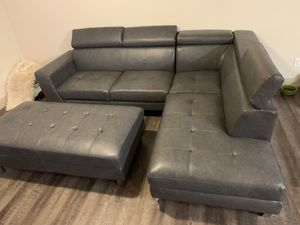 Sectional couch and ottoman for Sale in Denver, CO