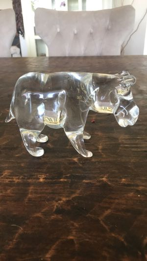 Collectable glass Hippo…signed on the bottom for Sale in Dallas, TX