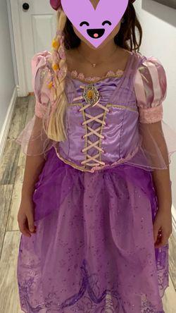 Disney's Rapunzel dress and hat 7/8 Medium for Sale in San Dimas,  CA