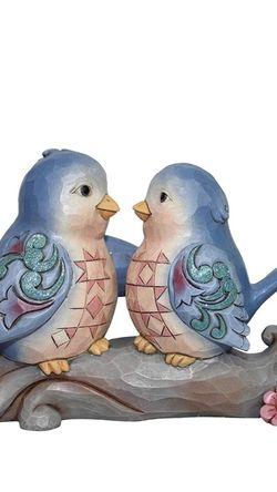 "Enesco 6002102 Jim Shore Heartwood Creek Bluebirds On Branch Figurine 4.2"" for Sale in Tustin,  CA"
