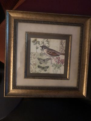 Framed matted bird picture for Sale in Arlington Heights, IL