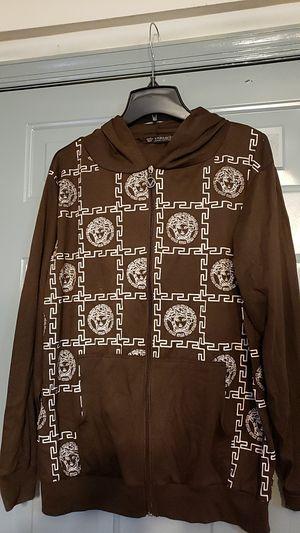 Versace Zip up Cotton Men's Hoody light jacket for Sale in Jersey City, NJ