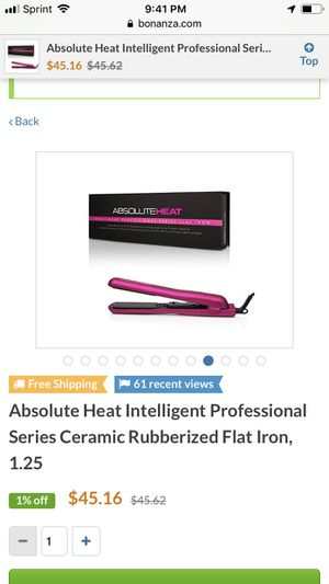 Absolute heat professional ceramic flat iron for Sale in Chicago, IL