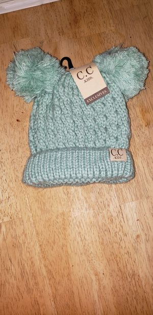 CC Kid's Double Pom Beanie for Sale in Rockland, MA
