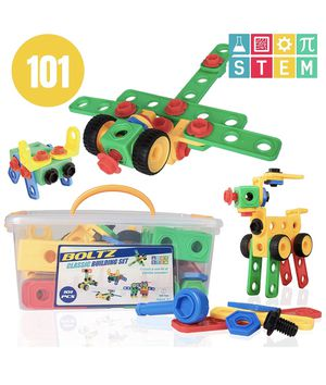 USA Toyz STEM Building Toys for Kids – 101pk Educational Learning STEAM Building Games, Engineering Construction Gears, Boys Girls Ages 3 4 5 6 7 8 9 for Sale in Brooklyn, NY