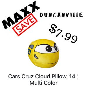 Cars Cruz Cloud Pillow for Sale in Dallas, TX