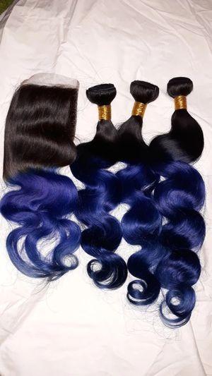 Brazilian body wave ombre human hair bundles for Sale in Takoma Park, MD