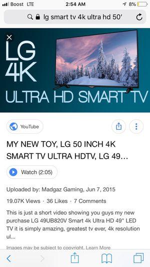 4K ultra hD smart tv for Sale in Austin, TX