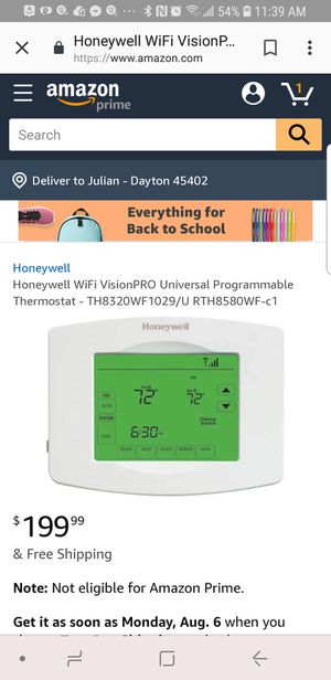 Honeywell WiFi Thermostat for Sale in Dayton, OH