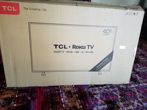 Like new in the box Smart TCL RoKu TV 40 inch for Sale in Richardson, TX