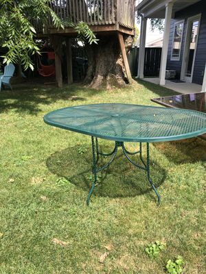 Heavyweight wrought iron patio table for Sale in Lexington, KY