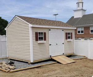 New 10' x 16' x 7' Almond Vinyl A Frame Shed for Sale in Franklin, MA