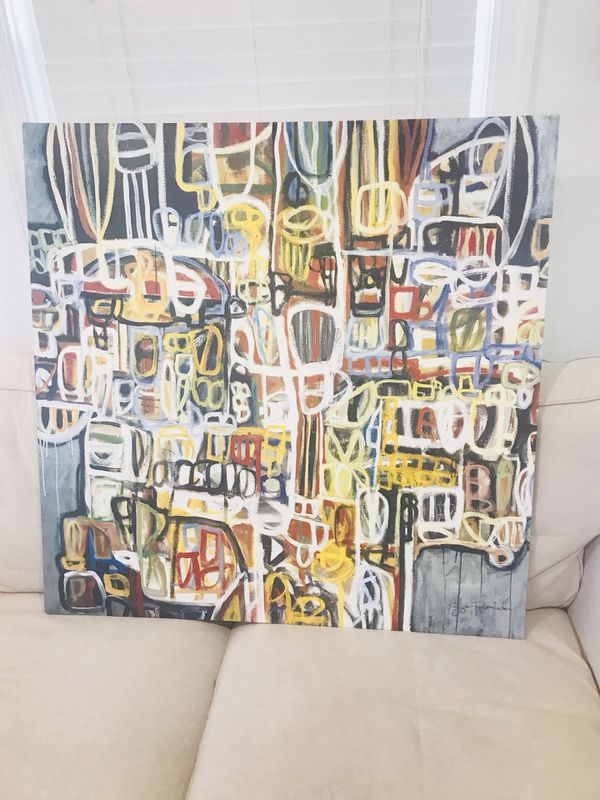 Beautiful Abstract Canvas art. Ready to hang! Must pick up in Kensington MD-20895