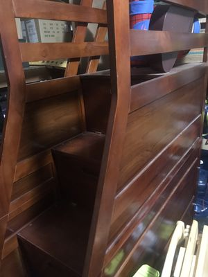Cherry wood stairs and storage for bunk bed. no bunk bed. for Sale in Sun City, AZ