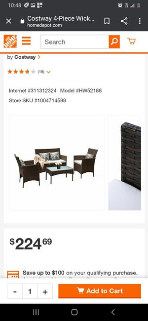 New 4 Piece Outdoor Patio Wicker Furniture Set for Sale in Downey, CA
