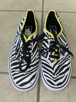 Zebra Print Vans With Yellow Lining for Sale in Spring, TX